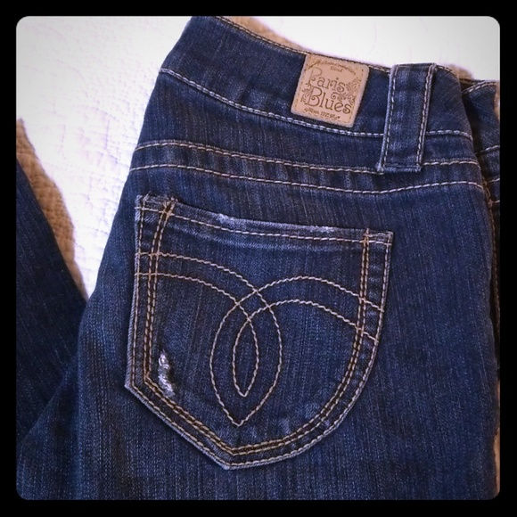 Paris Blues Denim - NWOT Paris Blues Distressed Straight Jeans sz 7